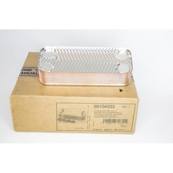 Теплообменник вторичный для газовых котлов Ariston (Аристон) и Chaffoteaux (Шифато) 65104333